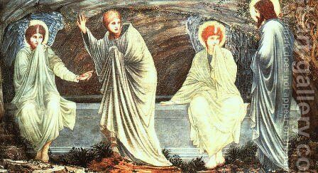 The Morning of the Resurrection 1882 by Sir Edward Coley Burne-Jones - Reproduction Oil Painting
