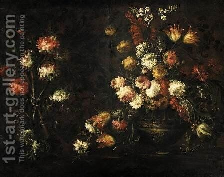 Still-Life with a Vase of Flower by Ippolito Caffi - Reproduction Oil Painting