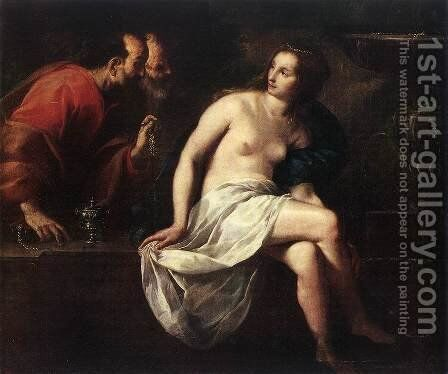 Susanna and the Elders by Guido Cagnacci - Reproduction Oil Painting