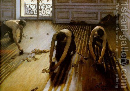 The Floor Scrapers 1875 by Gustave Caillebotte - Reproduction Oil Painting