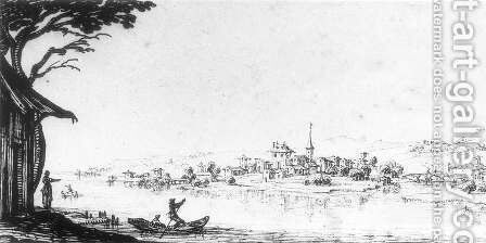 Landscape by Jacques Callot - Reproduction Oil Painting