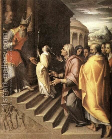 The Presentation of Mary by Denys Calvaert - Reproduction Oil Painting