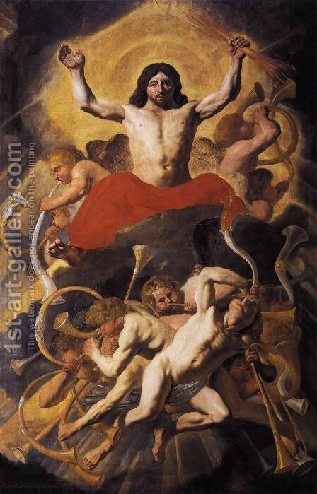 The Last Judgment by Jacob van Campen - Reproduction Oil Painting
