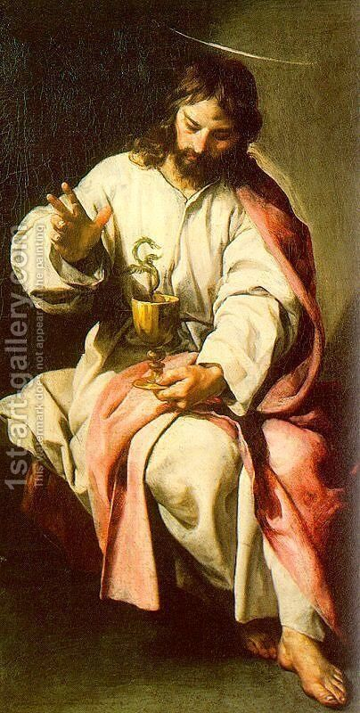 St. John the Evangelist with the Poisoned Cup 1636 by Alonso Cano - Reproduction Oil Painting