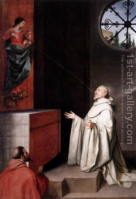 The Vision of St Bernard c. 1650 by Alonso Cano - Reproduction Oil Painting