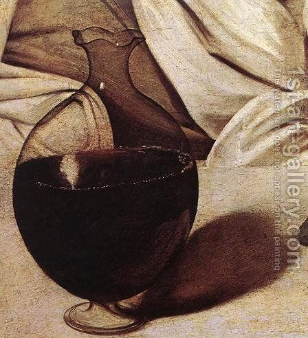 Bacchus (detail 2) c. 1596 by Caravaggio - Reproduction Oil Painting