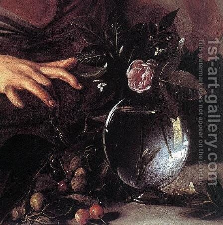 Boy Bitten by a Lizard (detail) c. 1594 by Caravaggio - Reproduction Oil Painting