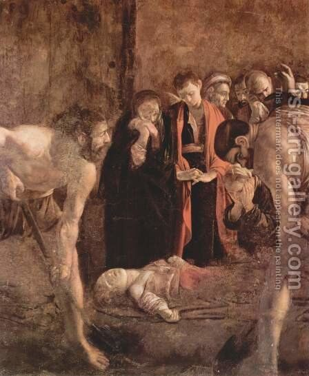 Burial of St Lucy (detail) 1608 by Caravaggio - Reproduction Oil Painting