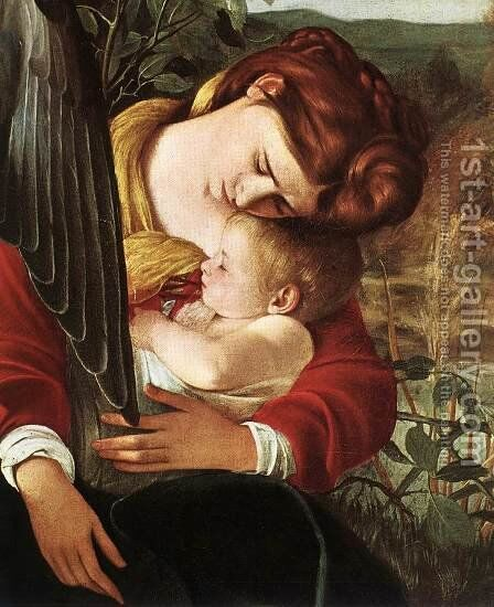 Rest on Flight to Egypt (detail 2) 1596-97 by Caravaggio - Reproduction Oil Painting