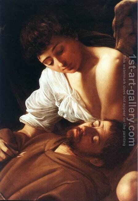 St. Francis in Ecstasy (detail) c. 1595 by Caravaggio - Reproduction Oil Painting