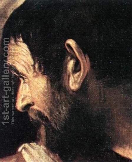 Supper at Emmaus (detail 2) 1606 by Caravaggio - Reproduction Oil Painting