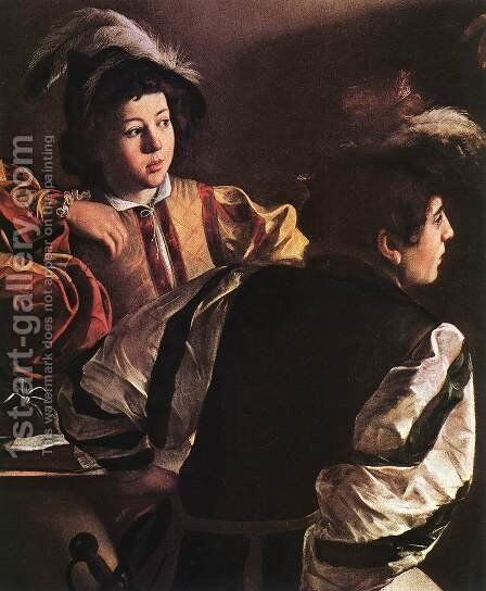 The Calling of Saint Matthew (detail 2) 1599-1600 by Caravaggio - Reproduction Oil Painting