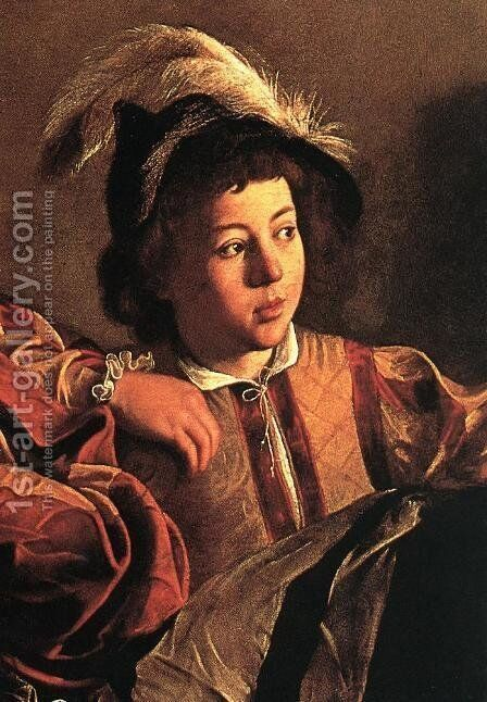 The Calling of Saint Matthew (detail 3) 1599-1600 by Caravaggio - Reproduction Oil Painting