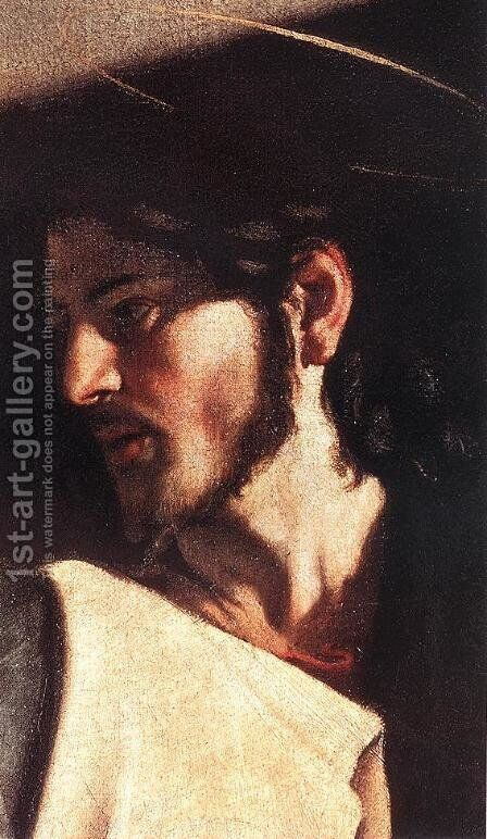 The Calling of Saint Matthew (detail 7) 1599-1600 by Caravaggio - Reproduction Oil Painting