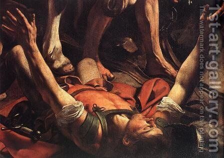 The Conversion on the Way to Damascus (detail) 1600 by Caravaggio - Reproduction Oil Painting
