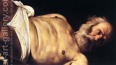 The Crucifixion of Saint Peter (detail 2) 1600 by Caravaggio - Reproduction Oil Painting