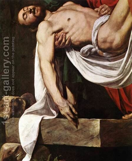 The Entombment (detail 1) 1602-03 by Caravaggio - Reproduction Oil Painting