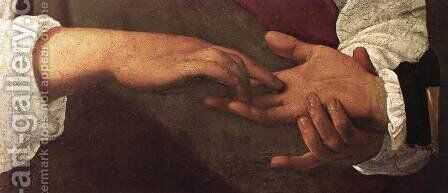 The Fortune Teller (detail 1) 1596-97 by Caravaggio - Reproduction Oil Painting