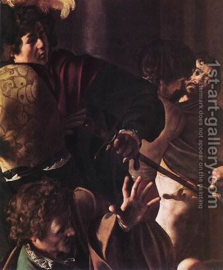 The Martyrdom of St Matthew (detail 1) 1599-1600 by Caravaggio - Reproduction Oil Painting