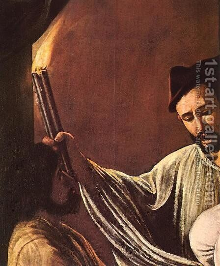 The Seven Acts of Mercy (detail 1) 1607 by Caravaggio - Reproduction Oil Painting