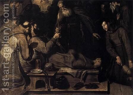 Death of St Francis 1593 by Bartolome Carducci (or Carducho) - Reproduction Oil Painting