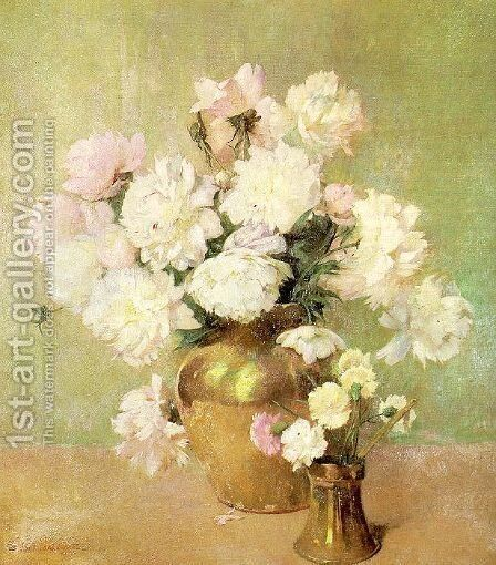 Peonies by Emil Carlsen - Reproduction Oil Painting