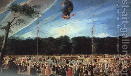 Balloon Ascent at Aranjuez, 1784 by Antonio Carnicero Y Mancio - Reproduction Oil Painting