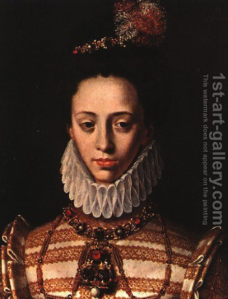 Portrait of a Lady 1577 by Antoine Caron - Reproduction Oil Painting