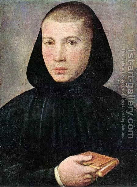 Portrait of a Young Benedictine by Giovanni Francesco Caroto - Reproduction Oil Painting
