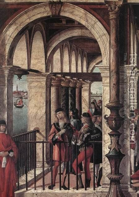 Arrival of the English Ambassadors (detail 1) 1495-1500 by Vittore Carpaccio - Reproduction Oil Painting