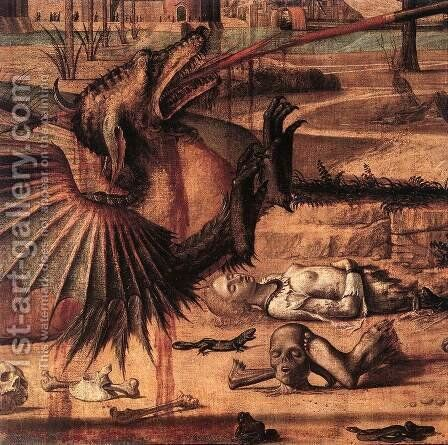 St George and the Dragon (detail 2) 1502 by Vittore Carpaccio - Reproduction Oil Painting