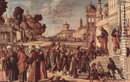 St Stephen is Consecrated Deacon 1511 by Vittore Carpaccio - Reproduction Oil Painting