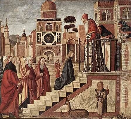 The Presentation of the Virgin 1504-08 by Vittore Carpaccio - Reproduction Oil Painting