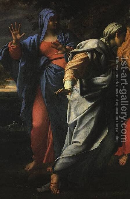 Holy Women at the Tomb of Christ (detail) by Annibale Carracci - Reproduction Oil Painting