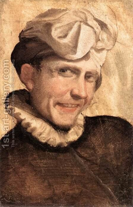 The Laughing Youth 1583 by Annibale Carracci - Reproduction Oil Painting