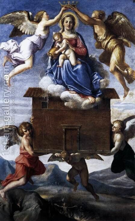 Translation of the Holy House c. 1605 by Annibale Carracci - Reproduction Oil Painting