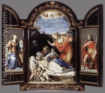Triptych 1604-05 2 by Annibale Carracci - Reproduction Oil Painting