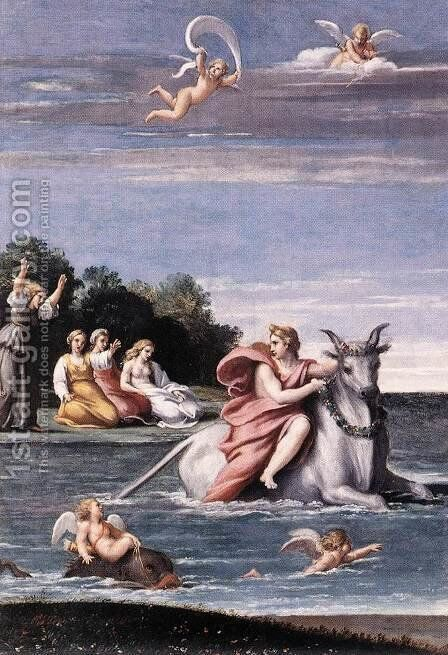 The Rape of Europa by Antonio Carracci - Reproduction Oil Painting