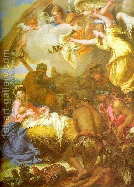 Adoration of the Shepherds by Giovanni Benedetto Castiglione - Reproduction Oil Painting