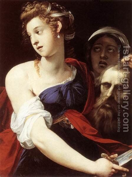Judith with the Head of Holofernes 1605-10 by Giuseppe (d'Arpino) Cesari (Cavaliere) - Reproduction Oil Painting