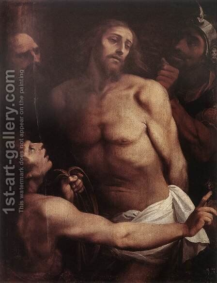 The Mocking of Christ c. 1598 by Giuseppe (d'Arpino) Cesari (Cavaliere) - Reproduction Oil Painting
