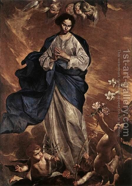 The Blessed Virgin 1650 by Bernardo Cavallino - Reproduction Oil Painting