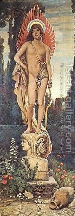 Superest Invictus Amor by Elihu Vedder - Reproduction Oil Painting