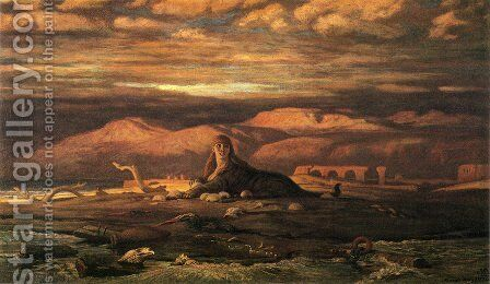 The Sphinx of the Seashore (1879-80) by Elihu Vedder - Reproduction Oil Painting