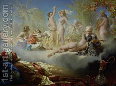 The Dream of the Believer, c.1870 by Achille Zo - Reproduction Oil Painting