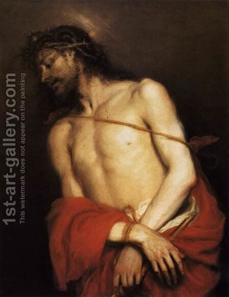 Ecce Homo c. 1665 by Mateo the Younger Cerezo - Reproduction Oil Painting