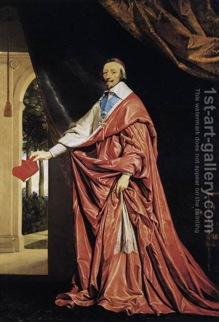Cardinal Richelieu c. 1637 by Philippe de Champaigne - Reproduction Oil Painting