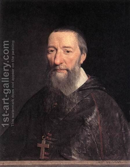 Portrait of Bishop Jean-Pierre Camus 1643 by Philippe de Champaigne - Reproduction Oil Painting