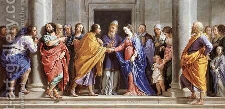 The Marriage of the Virgin c. 1644 by Philippe de Champaigne - Reproduction Oil Painting