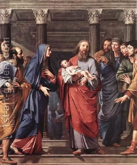 The Presentation of the Temple 1648 by Philippe de Champaigne - Reproduction Oil Painting